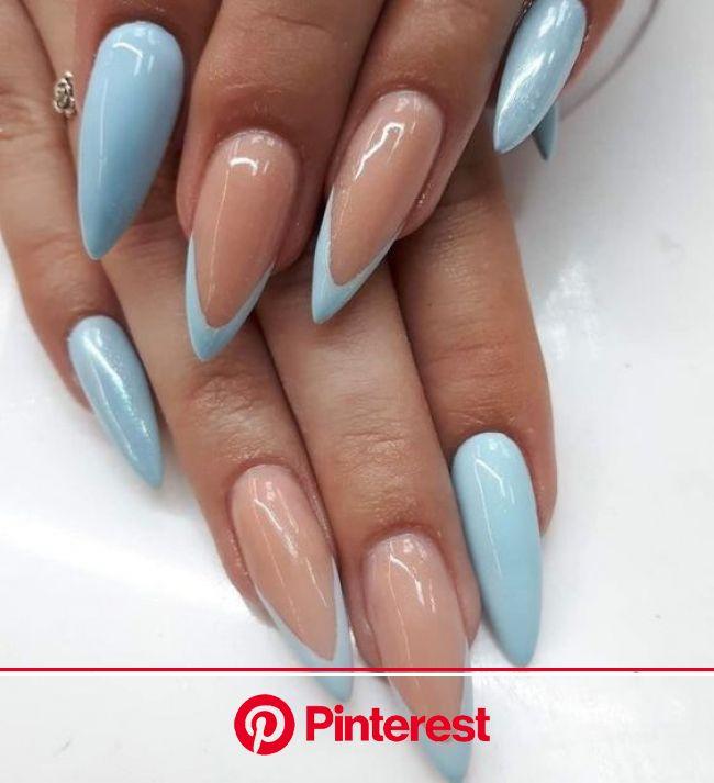 Красивый модный френч 2021: свежие идеи французского маникюра +фото | Длинные ногти, Дизайнерские ногти, Ногти
