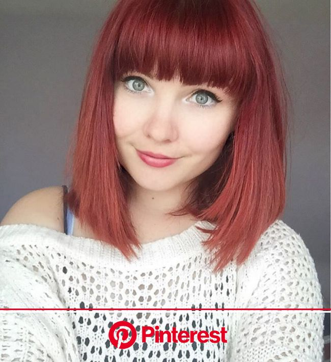 Paige Joanna Calvert | Hair dye tips, Short red hair, Red hair with bangs