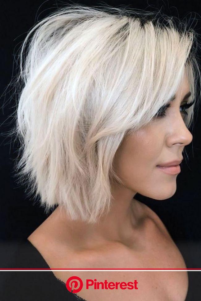 25 Flirty Short Hairstyles For Fine Hair in 2021 | Short hair with layers, Haircuts for fine hair, Short thin hair