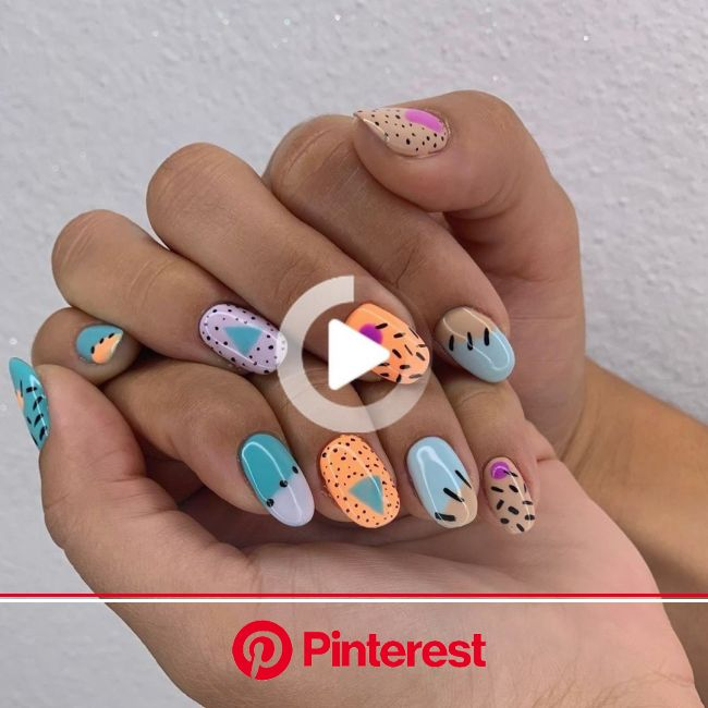 "Nail A La Mode on Instagram: ""••Cute Dry Manicure •• #handpaintednailart #luxio"" 