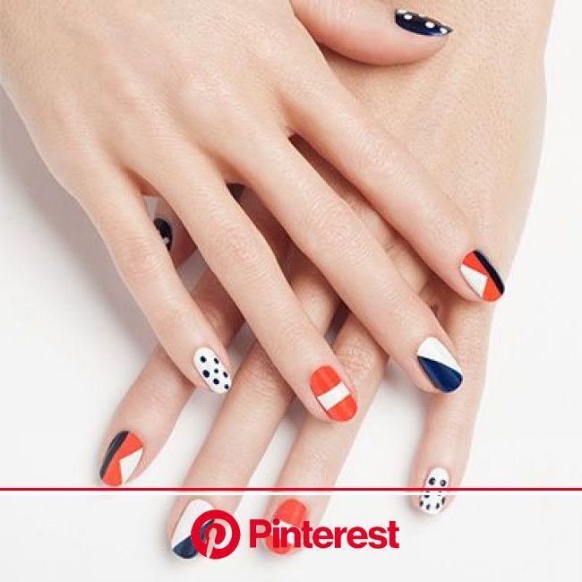 nautical nails by essie | Nautical nails, Fashion nails, Manicure