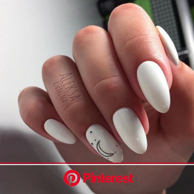 Uploaded by sιмσηεт. Find images and videos about style, beauty and white on We Heart It - the app to get lost… | White gel nails, White nails, Gel na