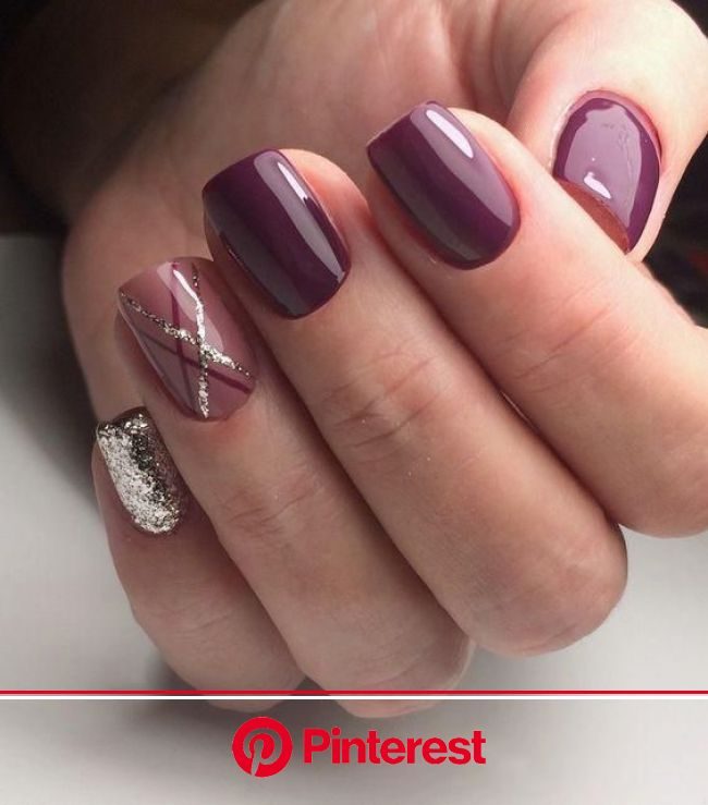 55+ Trendy Manicure Ideas In Fall Nail Colors | Purple nails, Fall manicure, Gorgeous nails
