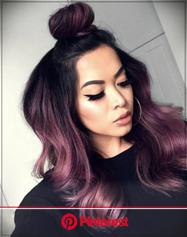 Chocolate lilac: the ideal hair color for those who want a subtle change | Hair styles, Violet hair, Hair looks