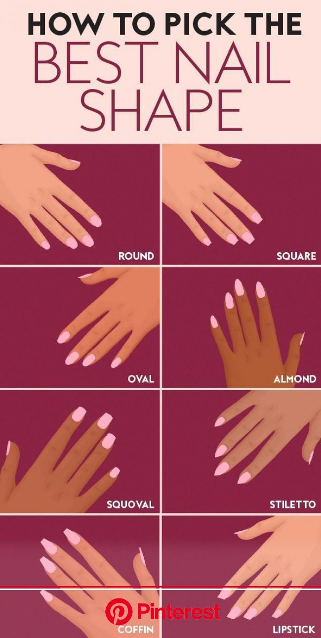 How to Pick the Best Nail Shape for You | Acrylic nail shapes, Nail shapes, Different nail shapes