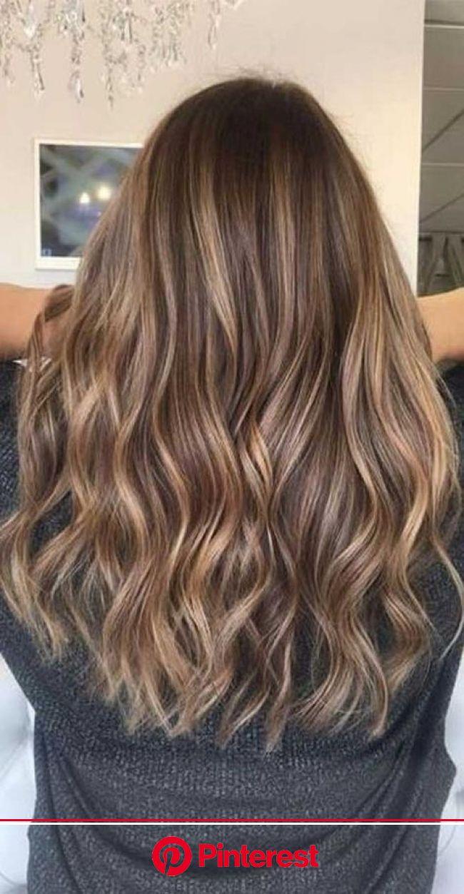 Long Wave Caramel Brown Wig in 2020 | Light hair color, Highlights brown hair balayage, Brown hair balayage