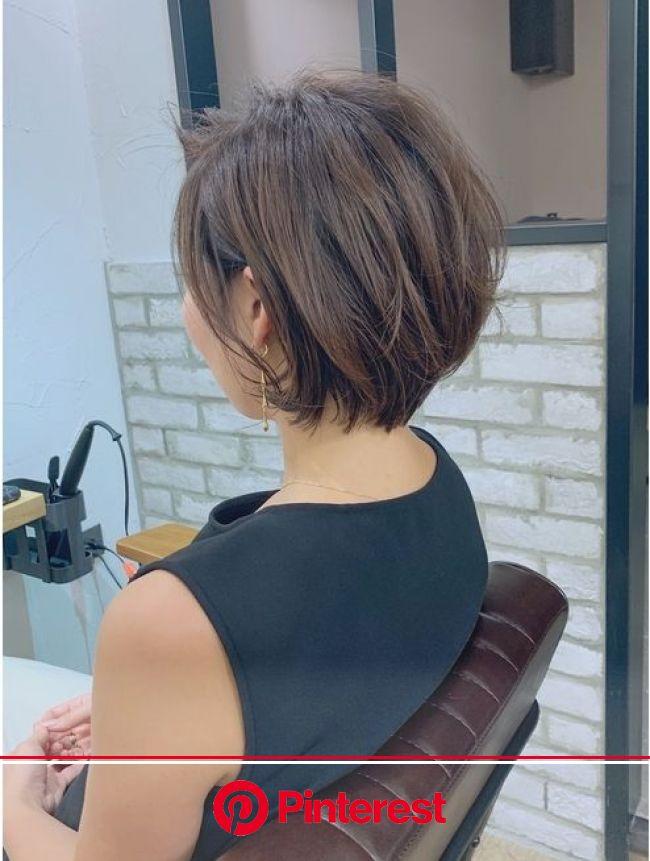 30.40代にオススメ×耳掛けひし形ショート◎:L038254665|マグ ギンザ(mag ginza)のヘアカタログ|ホットペッパービューティー【2020】 | 短い髪のためのヘアスタイル, ショートボブのヘアカット, 50代 ヘアスタイル