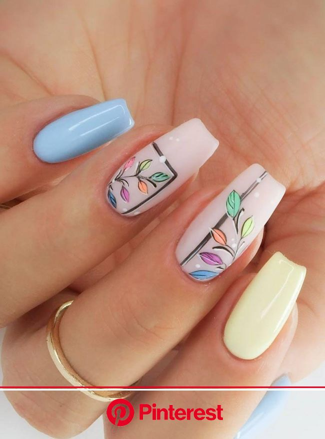55 Gorgeous Spring Nail Art Designs Just For You | Almond acrylic nails, Spring nail art, Nail art designs