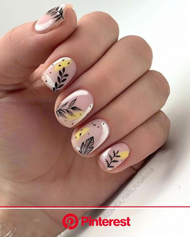 Pin by Lois Smith on Nail Designs in 2020 | Yellow nails, Manicure, Nail designs