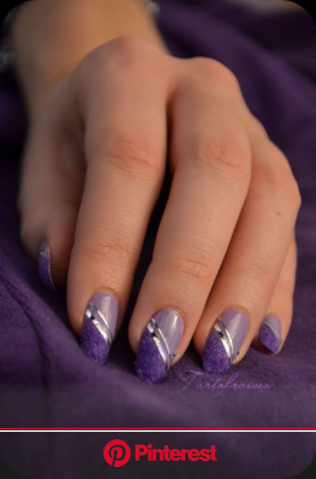 Nail art – Manucure «Velvet» (velours) | Tartofraises | Purple nail art, Purple nail designs, Nail art designs