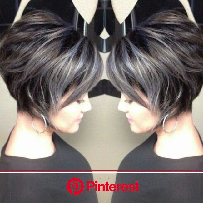 Grey gorgeousness by Kaitlyn @ J&Frank- Professional Hairstylists | Short hair color, Short hair styles, Hair color unique