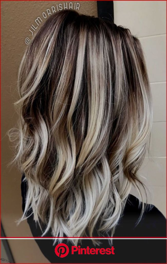 Strähnen blond mit dunklen Braune Haare