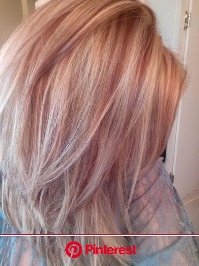 rose gold lowlights. This is amazing. when i see all these cute hair styles it always makes me jealous i wish i c… | Hair styles, Hair highlights, Tre