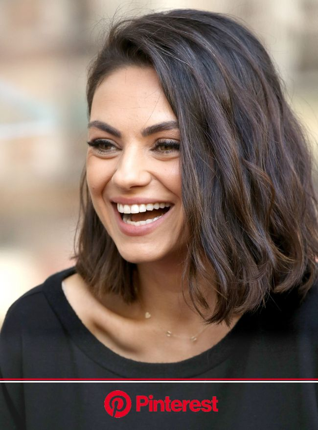 Mila Kunis Has The Best Hollywood Glow-Up—& No One Has Noticed | Thick hair styles, Short hair styles, Curly hair styles