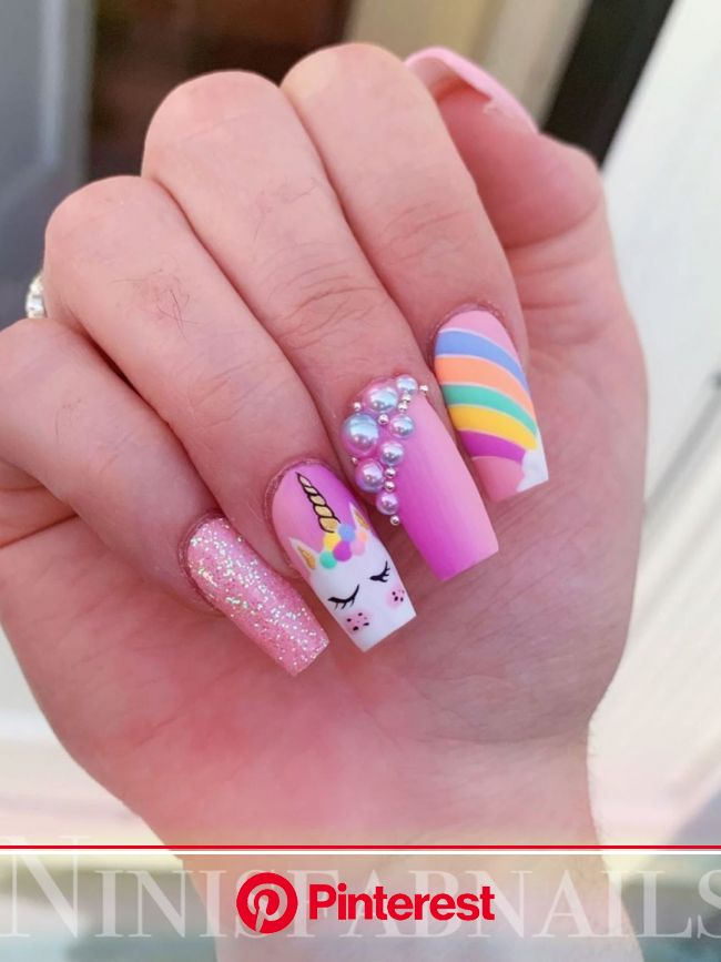 The Best Unicorn Nail Art Design Ideas & Tutorials | Shiny nails designs, Unicorn nails, Unicorn nails designs