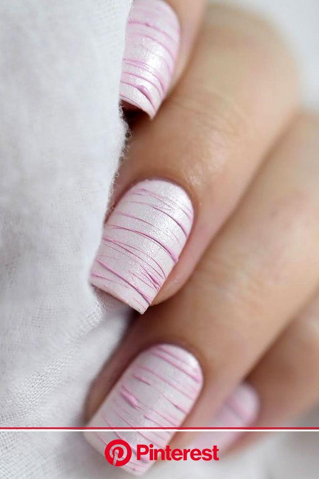 nail design pink nails with stripes marinelp91 via instagram | Minimalist nails, Pink nails, Nail designs