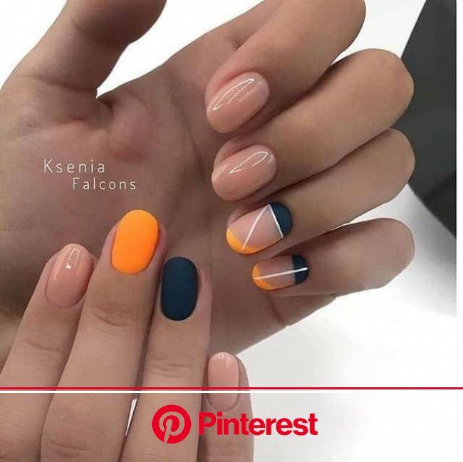 50 Orange Nail Ideas to Make You Stun in Every Season | Orange nails, Trendy nails, Cute nails