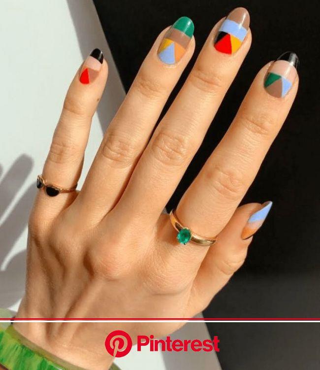 Nail art estate 2020 ???????? Passione color block per unghie effetto wow (ClioMakeUp Blog / Tutto su Trucco, Bellezza e Makeup ;)) | Manicura de uñas