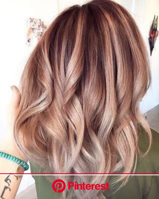 Rose Gold Ombré | Blonde hair with highlights, Hair styles, Balayage hair