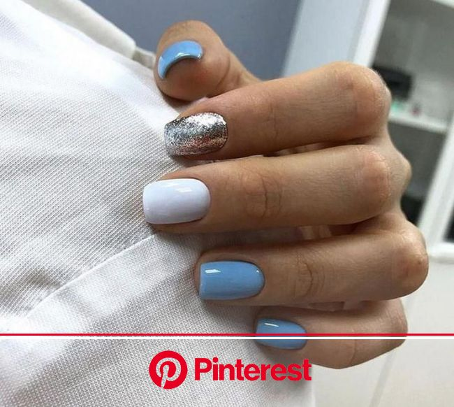 Impressive Photo Have A Look At Our Commentary For Much More Suggestions Cutenails In 2020 Winter Nail Designs Blue Gel Nails Sky Blue Nails Clara Beauty My