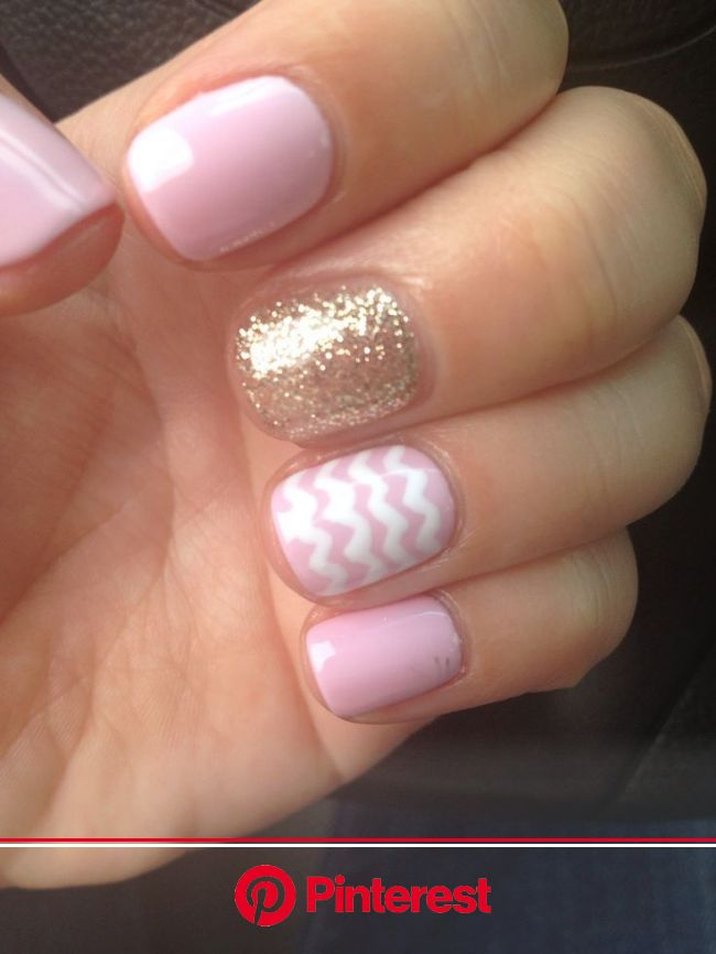 Gel Nails - Nail Art Designs For a Complete Unique Look - Ohh My My | Chevron gel nails, Gel nails, Nails