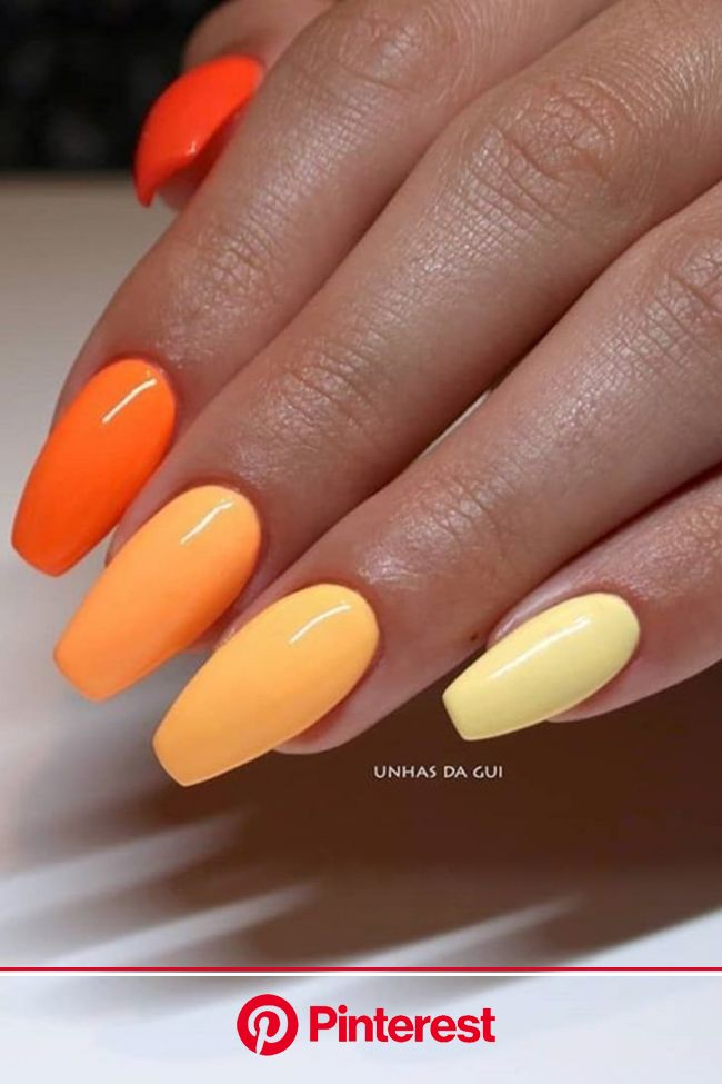 Everything You Need to Re-Create the Buzzy Gradient Nail-Art Trend From Instagram | Gradient nails, Acylic nails, Fall acrylic nails