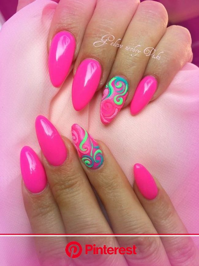 40 Lovely Pink Nail Art Ideas for Summer Koees Blog | Neon nails, Neon pink nails, Pink nail designs