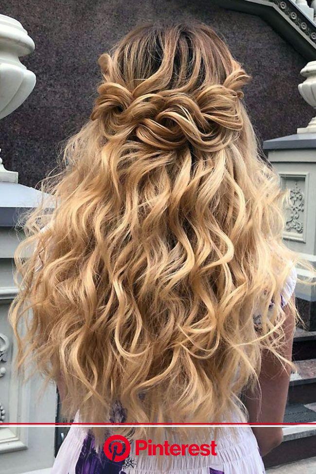 45 Perfect Half Up Half Down Wedding Hairstyles   Braids for long hair, Medium hair styles, Thick hair styles