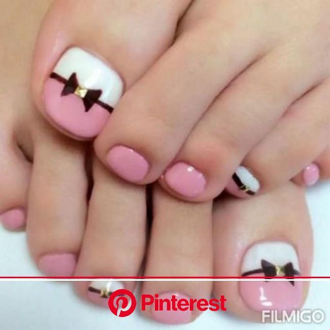 Nailsart [Video] in 2021 | Simple toe nails, Pink toe nails, Toe nail designs