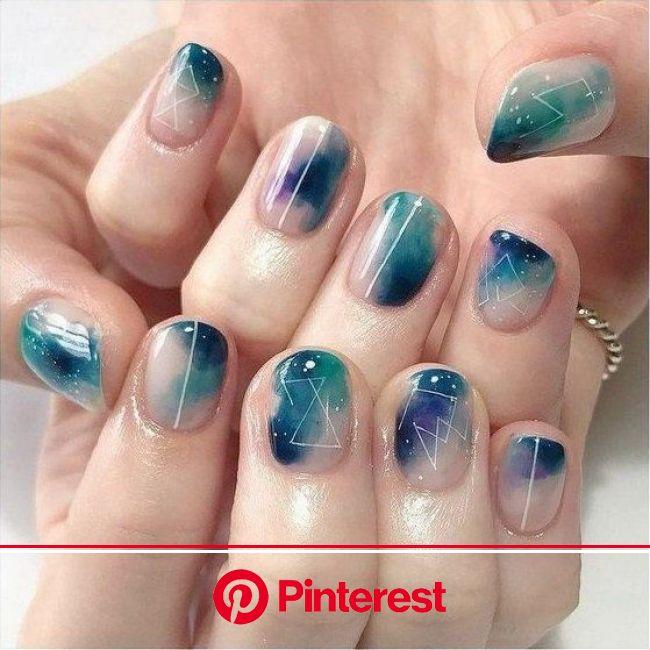 15 Diseños de uñas inspiradas en las estrellas y el espacio | Uñas de maquillaje, Manicura de uñas, Uñas de gel cortas