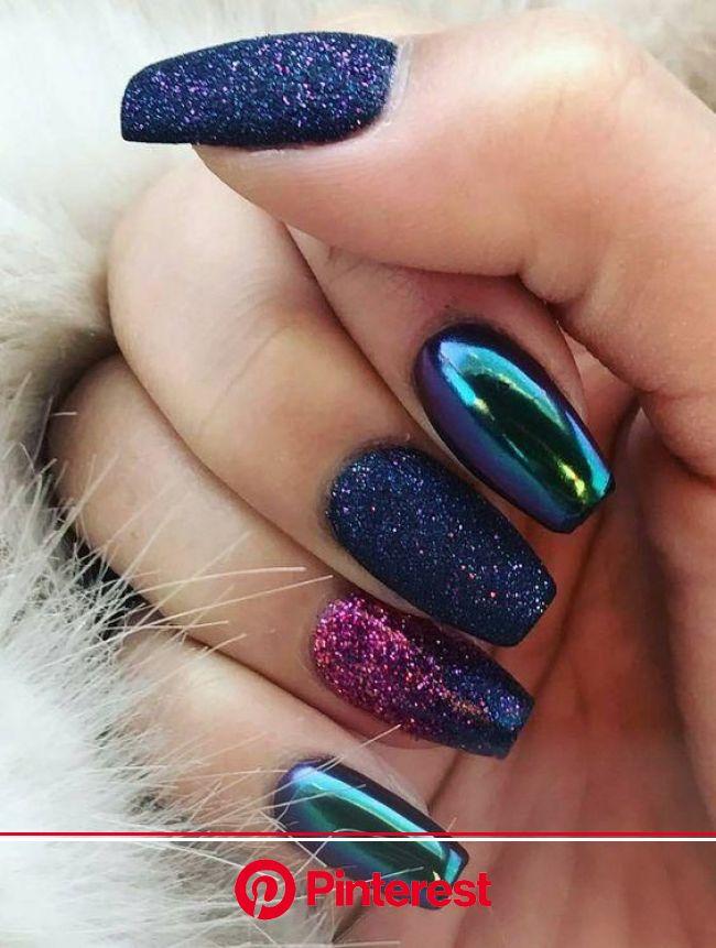 Nail Designs for Sprint Winter Summer and Fall. Holidays Too! | Metallic nails design, Metallic nail art, Metallic nails