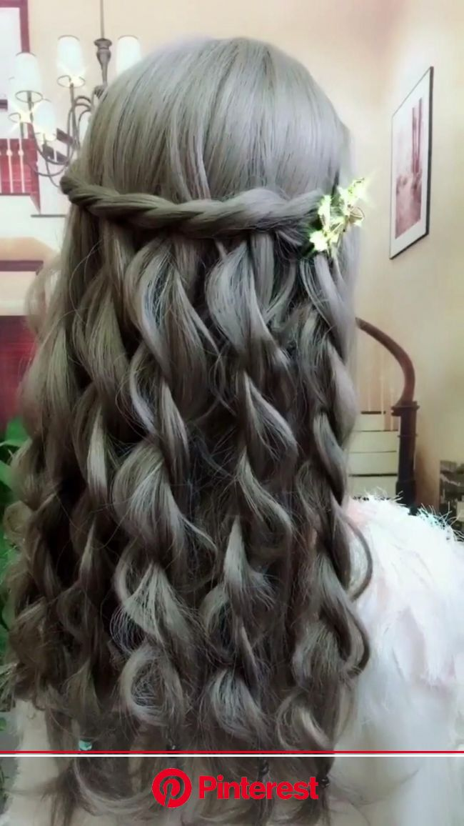 Hairstyle [Video] | Hair styles, Front hair styles, Bride hairstyles