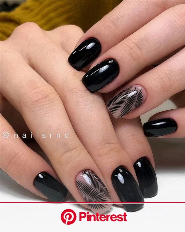 Black Nails Art Ideas in 2020 | Black nails, Nail design inspiration, Nail art wedding