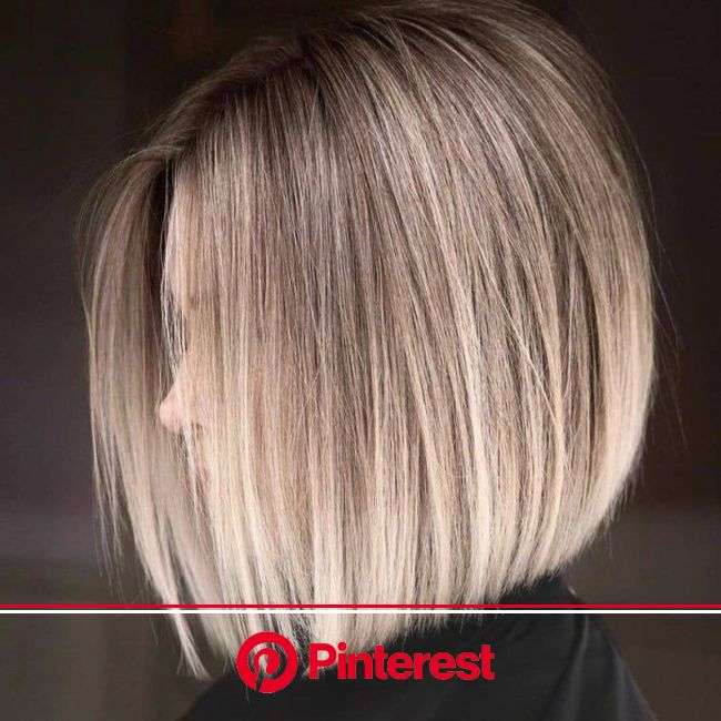 White Blonde Light Brown Highlights Bob Wig / Blonde Smoky Shadow Roots Wig / Ombre Lace Front Wig / Virgin European Human Hair Wig in 2021 | Short ha
