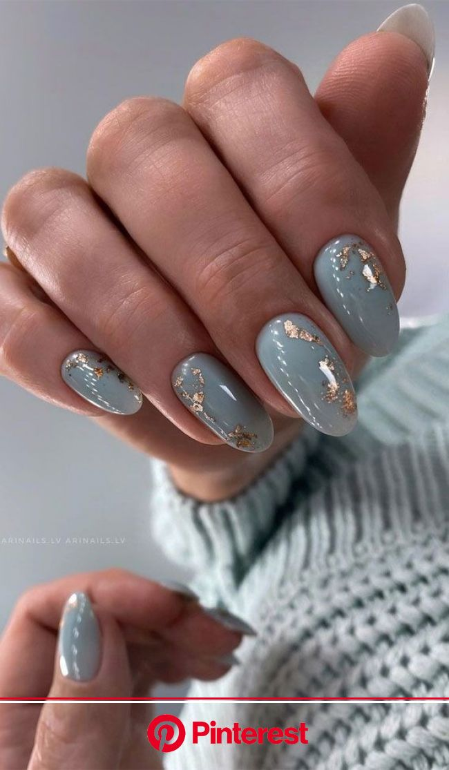 Stylish Nail Art Designs That Pretty From Every Angle : Blue Grey Nails | Stylish nails art, Nails, Stylish nails