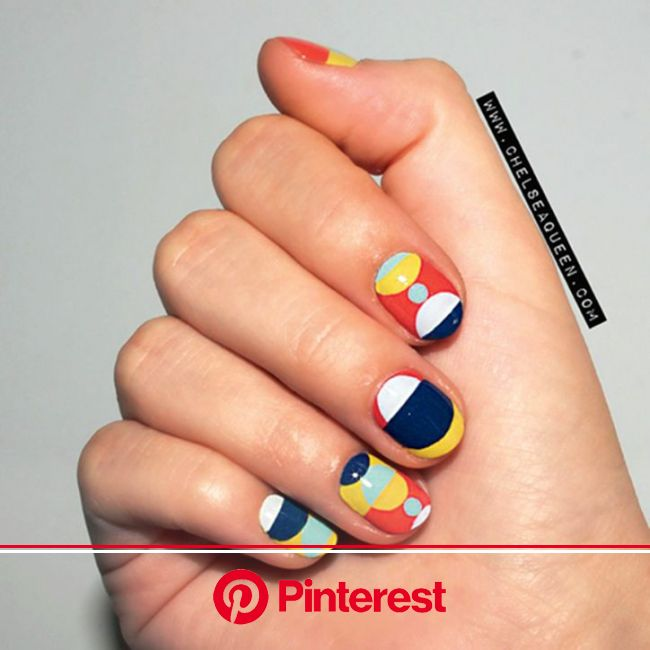 30 New Ways to Update Your French Manicure | Manicure, Geometric nail, French manicure nails