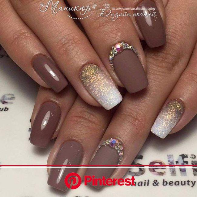 Follow @  pin addict | Brown nails design, Brown nail art, Pretty nails
