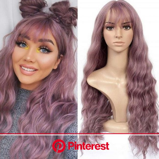 Purple Lavender Wavy 26 Trendy Taro Purple Wig  | Etsy in 2021 | Purple wig, Synthetic hair, Synthetic wigs