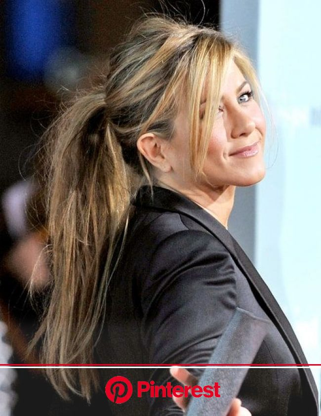 Jennifer Aniston's Hair Evolution | Straight ponytail hairstyles, Jennifer aniston hair