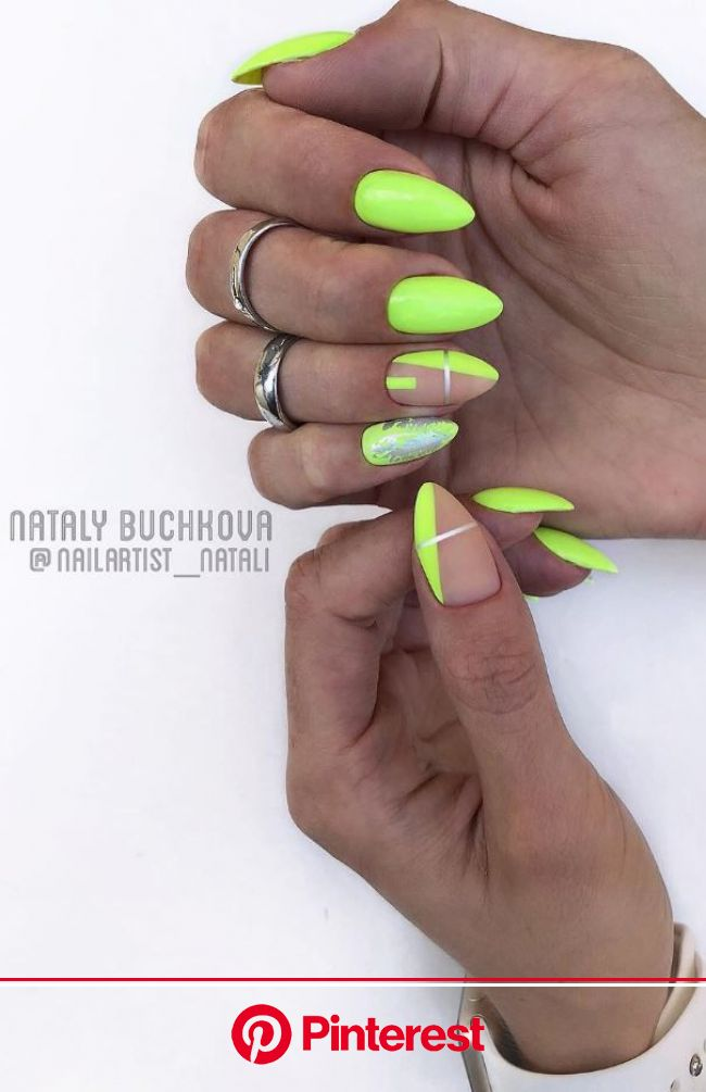 100+ Best Nail Art Ideas Of The Year | Hard gel nails, Neon nails, Neon green nails