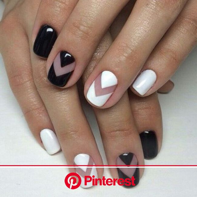 Black and White Nails That are Gorgeous ( 22 Ideas ) - Inspired Beauty | Gel manicure colors, Manicure, White nail designs