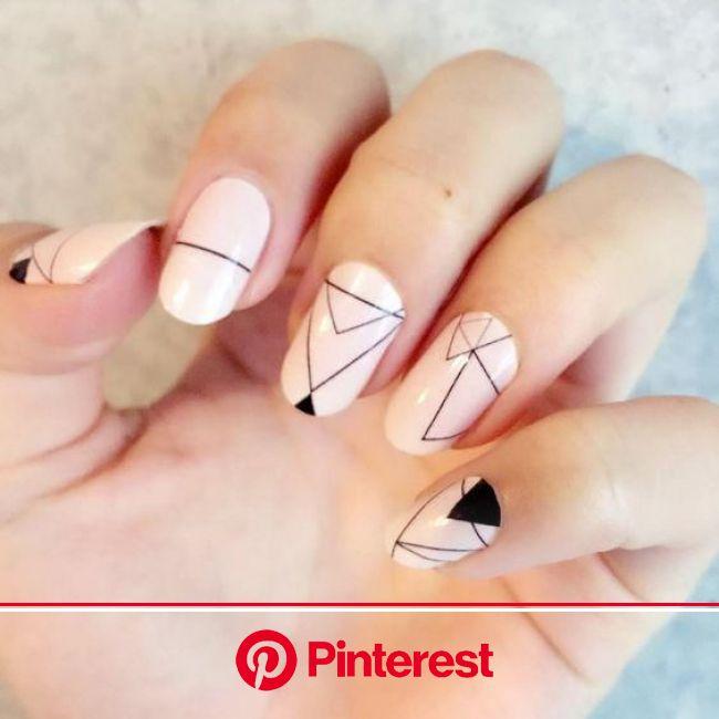 GEOMETRIC NAIL ART IDEAS | Дизайнерские ногти, Модные ногти, Нейл арт