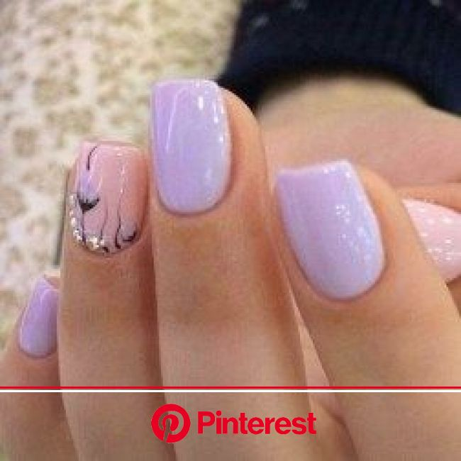 50 Matte Coffin Nails with Flowers For Winter 2020 | Lilac nails, Pink nails
