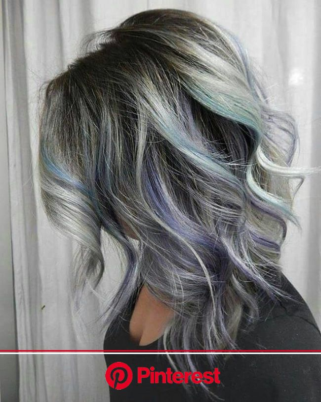 Great Lengths: 36 Inspiring Long Haircuts for Women to Try Now | Hair color pastel, Hair highlights, Blue hair highlights