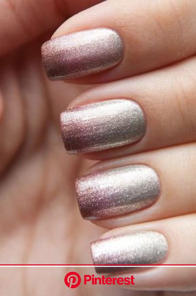 35 Amazing Ombre Nails that You Must Try | Metallic nail art, Ombre nails glitter, Metallic nails