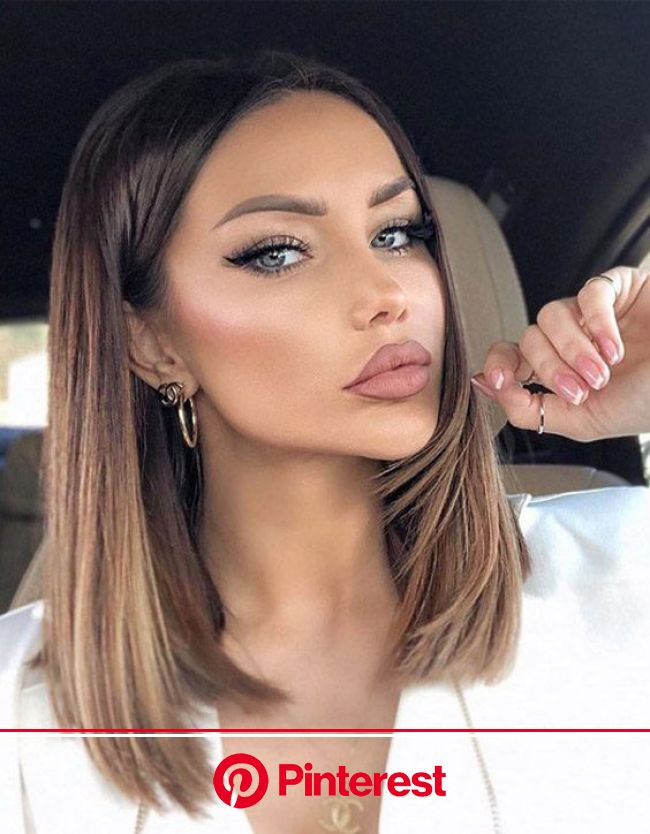 Ideal & Modern Brown Highlights for Shoulder Length Hair in 2020 | Hair lengths, Shoulder length hair, Brown hair balayage