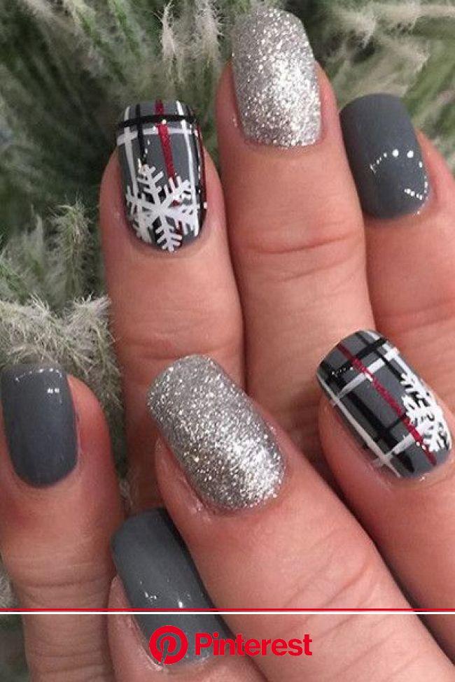 Holiday Party Nail Inspiration | Holiday party nails, Christmas nails acrylic, Plaid nails