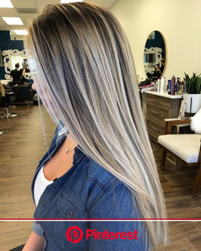 Stylish Balayage Ombre Long Hair Style for Women, Long Haircut Designs | Hair styles, Ash hair color, Long hair styles