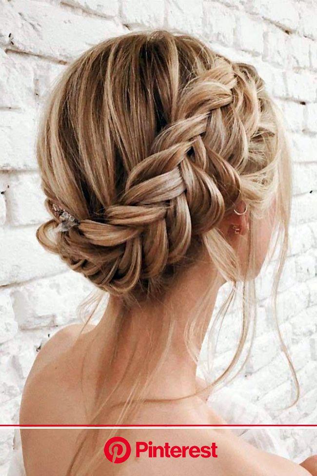 33 Wedding Updos With Braids | Wedding Forward | Braids for short hair, Braided hairstyles easy, Braided hairstyles