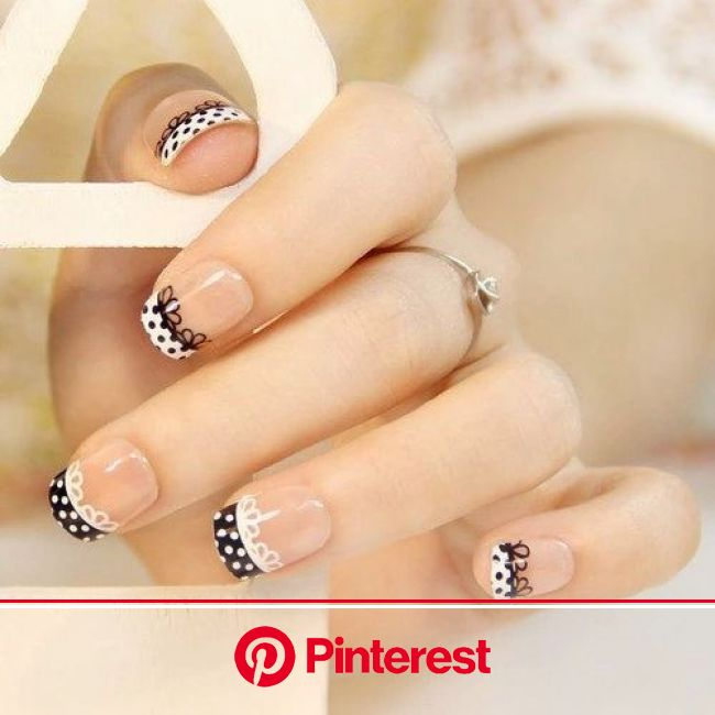 Untitled | Lace nails, Nail designs pictures, French manicure nails